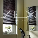 SLX Wood Blinds - 25mm Chocolate Blind with Strings