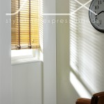 SLX Wood Blinds - 35mm Linen Blind with 19mm Latte Tape