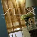 SLX Wood Blinds - 35mm Natural Blind with 19mm Honey Tape