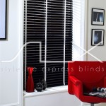SLX Wood Blinds - 50mm Ebony Blind with 25mm White Tape
