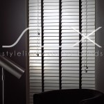 SLX Wood Blinds - 50mm White Blind with 25mm Ebony Tape