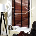 SLX Wood Blinds - 63mm Walnut Blind with 38mm Chocolate Tape