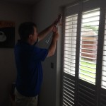 4 Seasons Shutter installer finishing off